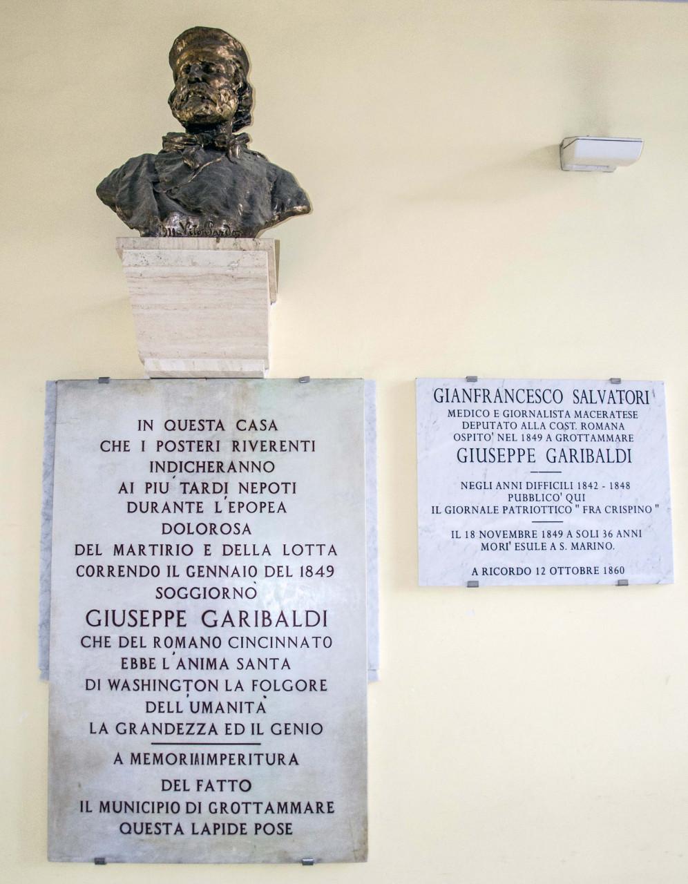 Lapide a Garibaldi