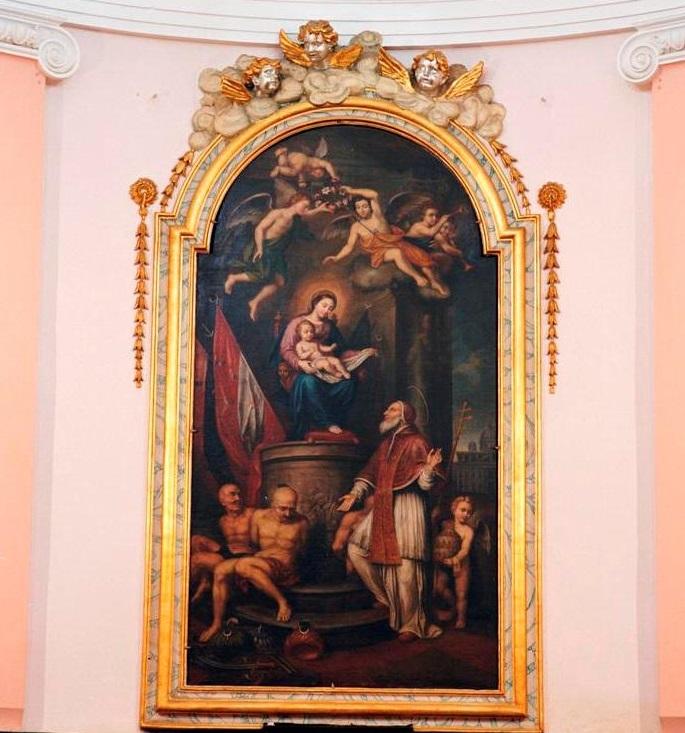 San Pio V in preghiera davanti alla Vergine