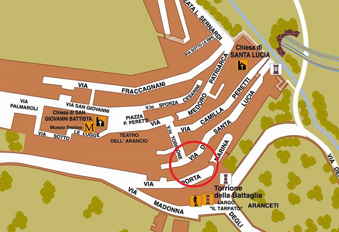 Torrione Battaglia mappa
