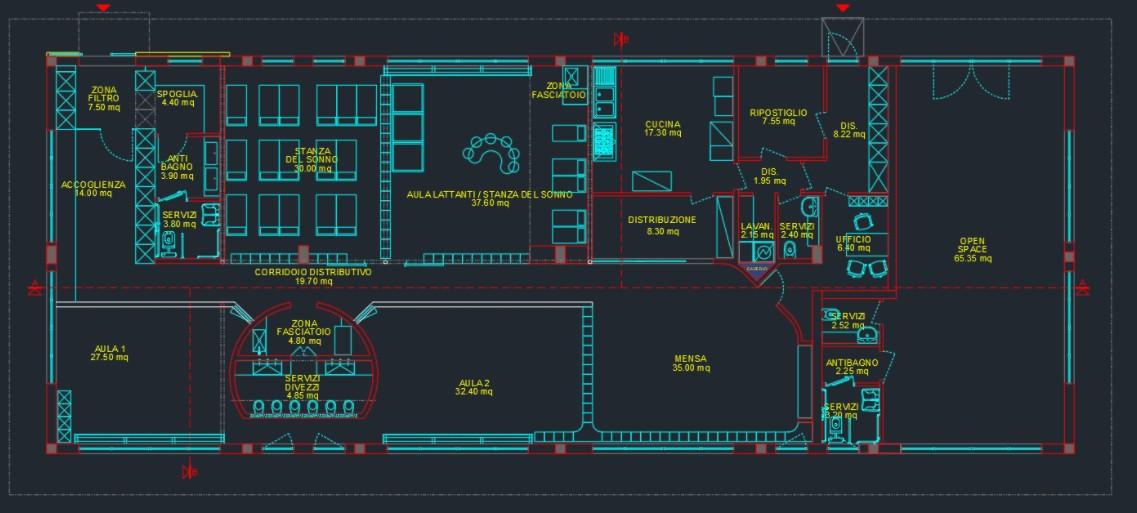 Planimetria nuovo asilo nido Pollicino