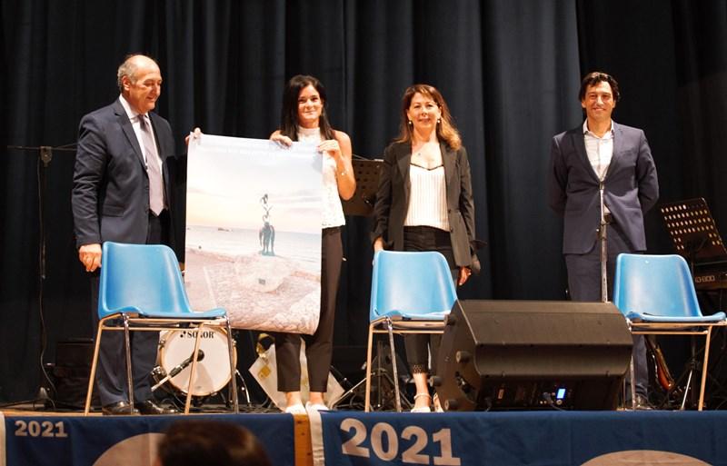 Da sx Claudio Mazza, Ilenia Mauro vincitrice, Alessandra Biocca, Enrico Piergallini
