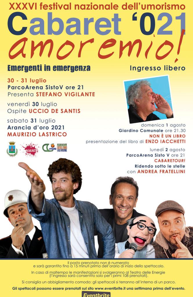 Cabaret, amoremio! 2021 locandina